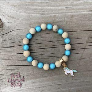Bracelet licorne turquoise