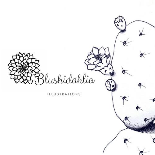 Blushidahlia Illustrations