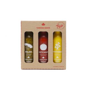 Canada Sauce - Trio 350 ml ketchup, moutarde, relish