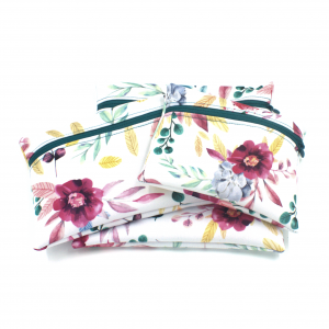 Ensemble sac à collations Floral