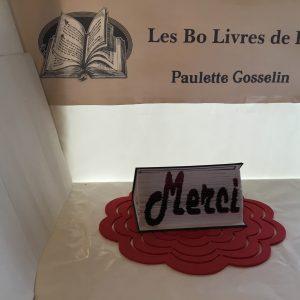 Livre sculpté Les Bo Livre de Popo - Merci horizontal