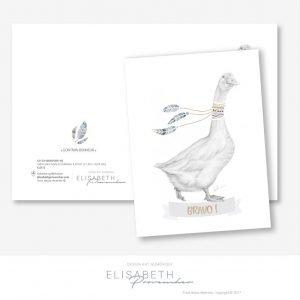 Carte de vœux «GONTRAN Bonheur» BRAVO ! – collection Dessin