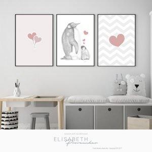 Petit «Bb GEORGES» d'amour – Affiches décoratives, ensemble de 3
