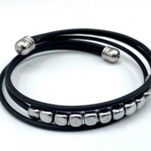 bracelet caoutchouc hématire gris pâle 4